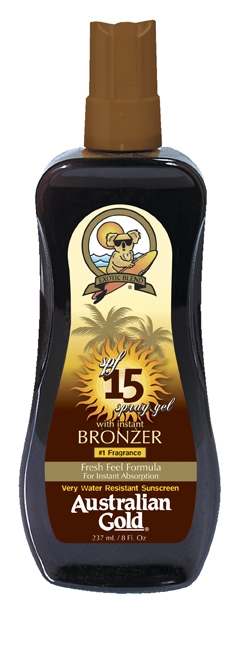 SPF Spray Gel Factor 15 with Bronzer