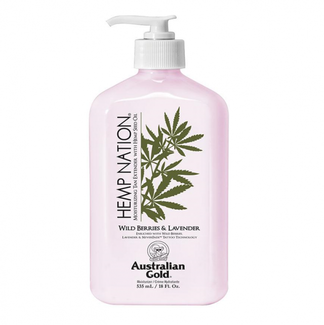 Australian Gold Hemp Nation Wild Berries and Lavander Moisturiser Tan Extender